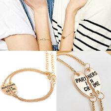 New Best Friends Forever Split Heart Pendant Bracelet Set Friendship Jewelry GT