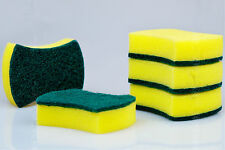 5pcs Kitchen Household Dishes Wash Yellow Tool Wipe Soft Foam Pad Clean Sponge
