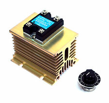 1pc KYOTTO AC Solid State Relay SSR KR2040AX 280VAC 40A + KH080-100 Heatsink