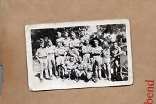 WW2 Postcard group of Soldiers Cairo Zoo EGypt 1942 unposted real photo.  Xc1.