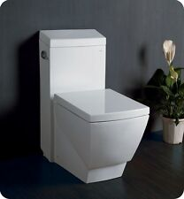 Fresca FTL2336 Apus One-Piece Square Toilet w/ Soft Close Seat Stain Resistant