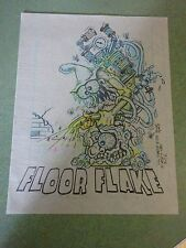 """FLOOR FLAKE"" JOHNNY ACE ORIGINAL VELLUM CONCEPT ART RAT FINK ED BIG DADDY ROTH"