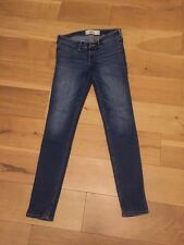 Ladies Blue Hollister Skinny Jeans Waist 26 Length 29 Size 3R Pristine Condition