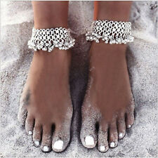 Fashion Silver Anklet Jewelry Sandbeach Barefoot Ankle Bracelet With Tinkle Bell