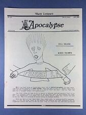 Harry Lorayne's APOCALYPSE - Bill Kalush - Magic Tricks - Aug.1994 Vol.17  No.8