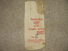 Vintage Canvas Bag - Remington Arms Dupont Lead 7 1/2 Shot - One 25 lb. Bag