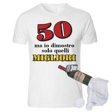 T-shirt in bottiglia compleanno 50 anni spiritosa e divertente idearegalo