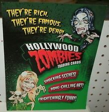 HOLLYWOOD ZOMBIES  TRADING CARDS - PROMOTIONAL SELL SHEET  11X17
