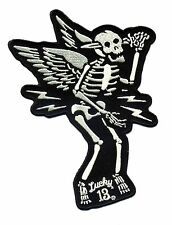 lucky 13 patch Suicide King hot rod rockabilly motorcycle tattoo biker skull