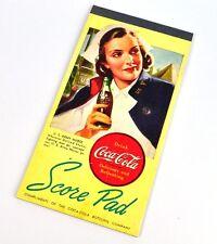 Coca Cola Coke Score Pad USA 1948 Pont Jeu Bloc Motif: U.S. Armée de terre