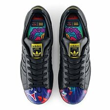 Brand Leather Shoes Sneakers Adidas Superstar Pharrell Supershell S83353 Black