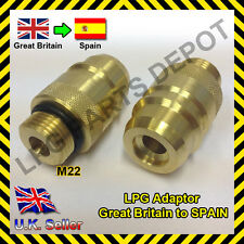 LPG GPL filling point adapter UK to SPAIN Autogas Propane gas travel caravan gas