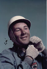 Stirling Moss Hand Signed Portrait F1 12x8 Photo.