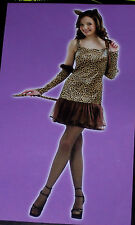 Leopard girl costume,Teens 1 size,wild,masquerade,theatre,dress-up,Mardi Gras