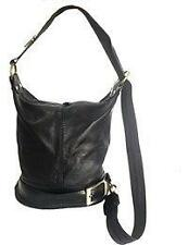Genuine Soft Italian Leather Black Shoulder Bag Ruck Sack Back Pack Handbag new