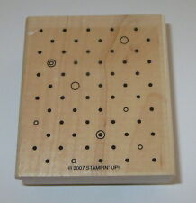 Polka Dots Rubber Stamp Background Stampin' Up! Circles Wood Mounted Retired