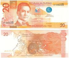 Philippines 20 Piso 2014 P-206a NEUF UNC Uncirculated Banknote