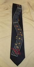 Tie Mate Australia Black G Glef Music Notes Musician Band Teacher Necktie Tie VG