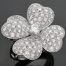 VAN CLEEF & ARPELS Cosmos Large Model White Gold Diamond Ring Box Papers