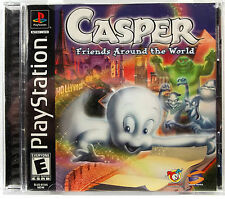 Casper Friends Around The World (PS1) Complete - Clean,Tested & Fast Shipping