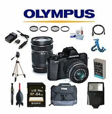 Olympus OM-D E-M10 Mark II Digital Camera with 14-42mm II R and 40-150mm Lenses