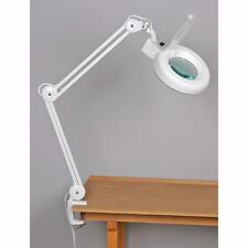 """Jewelers Magnifiers Lamp 38"""" Swing Arm Fluorescent Light With Workbench Clamp"""