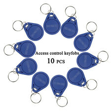10pcs RFID 125KHz Proximity ID Token Tag Key Keyfobs Blue For Door Entry system
