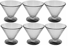 Glass Ice cream Bowls Glasses Speckled Glass Set of 6 Glass Sundae Dishes