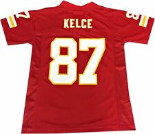 Travis Kelce Kansas City Chiefs Red Authentic Home Jersey (Youth Medium 10/12)