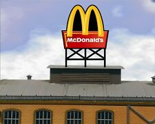 Animated Billboard McDonald's  for rooftop building sides roadsid HO N OO