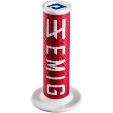 ODI Emig V2 Lock on Grips Red/White 2 Stroke H32EMRW