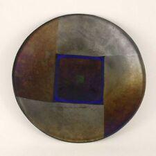 Original Lynn Latimer Iridescent Fused Glass Bowl Signed 1998 United States