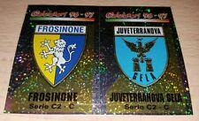 FIGURINA CALCIATORI PANINI 1996/97 SCUDETTI FROSINONE JUVETERRANOVA ALBUM 1997