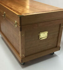 Tack Trunk with Bandage Lid,Tote & Sliding Tray Made From Solid Cherry Hardwood
