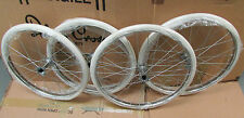 "Set of 4 SILVER CROSS BALMORAL COACH BUILT PRAM WHEELS + TYRE SIZES 18""  20"""
