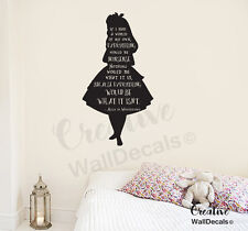 Vinyl Wall Decal Sticker Alice in Wonderland Kids Nursery Disney Quote r1873