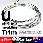 6M x 6mm Moulding Trim Silver Chrome Strip Car Door Edge Window Bumper Grille OZ