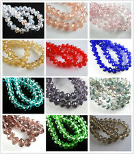 Charms 300pcs Faceted Glass Crystal Rondelle Space Beads Jewelry Findings 6mm