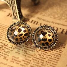 NiX 1310 New Gold Plated Leopard Stripe Crystal Stud Earrings Pearl Gift Women