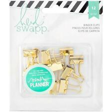 Gold Mini Binder Clips Memory Planner Heidi Swapp Paperclips Metal