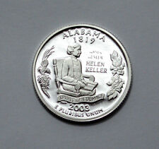 2003-S 25C ALABAMA SILVER DEEP CAMEO QUARTER DOLLAR PROOF, 90% SILVER, UNC, 25c