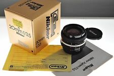 Nikon Nikkor 20mm f/3.5 Ai-s lens, EXC+ boxed condition. Superb ultra-wide!