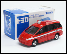 TOMICA Toyota Estima FIRE CHIEF CAR 1/65 TOMY DIECAST CAR 99 NEW (BOX CUT)