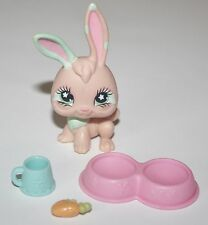 Littlest Pet Shop 548 PINK MINT GREEN BUNNY Rabbit Green Flower Eyes Accessories