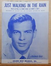 Just Walking In The Rain - 1953 sheet music - Johnnie Ray photo cover