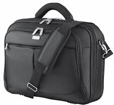 "NEW SYDNEY 16"" LUXURY PADDED NOTEBOOK LAPTOP CARRY BAG CASE BLACK"