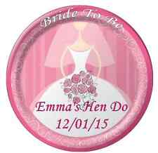 """Hen Do Bride To Be Personalised Cake Topper 7.5"""" Edible Wafer Paper"""