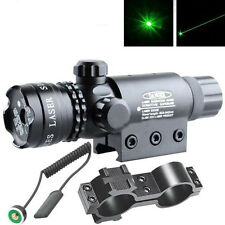 "Green Dot Laser Sight QD Mount Rail 20mm/Barrel 1""Ring/Tail Switch @W38"