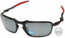Oakley BADMAN Sunglasses OO6020-07 | Carbon | Black Iridium Polarized | Ferrari