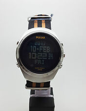 Pulsar Watch PQ2061X Men's Digital Dial Nylon Band 46mm Case RRP $250